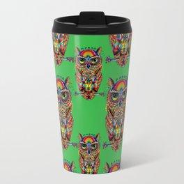 Owl of Sacred Knowledge Travel Mug