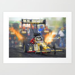 """US Army Dragster 16,5"""" x 11,8"""" Art Print"""