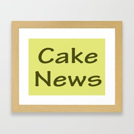 Cake News - Allusion to May in Salzburg Framed Art Print