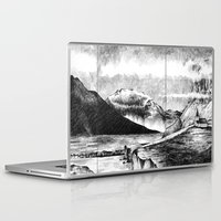 iceland Laptop & iPad Skins featuring Iceland by Justine Lecouffe
