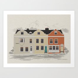 Lombard St. Portsmouth Art Print