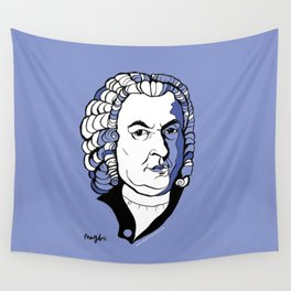 J.S. Bach baroque music  art print classical composer Arioso, Air on a G string,  Brandenburg Wall Tapestry