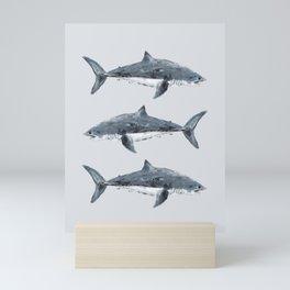 Great White Shark Painting Mini Art Print