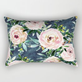 PORTIA'S GARDEN Rose Floral Rectangular Pillow