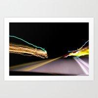 Night Road 1 Art Print