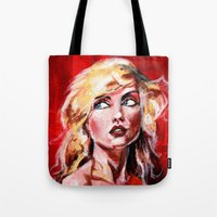 blondie Tote Bags featuring Blondie by dawn schreiner