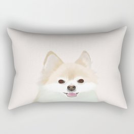 Pomeranian Dog Illustration Rectangular Pillow