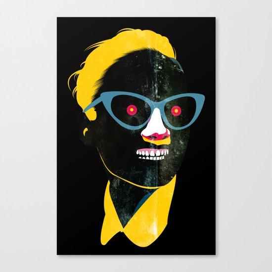 Smile in black Canvas Print