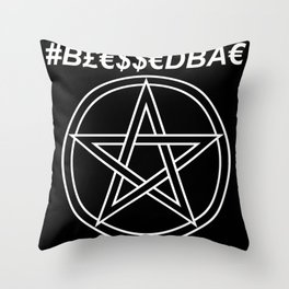 TRULY #BLESSEDBAE Throw Pillow
