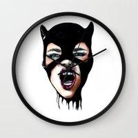 scream Wall Clocks featuring Scream by Bella Harris