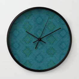 Moroccan Teal Painted Desert Wall Clock