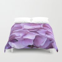 hydrangea Duvet Covers featuring Hydrangea by lillianhibiscus