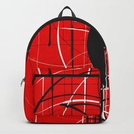 Black Dot Sticker Abstract Backpack