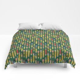 Little Pencils Green Comforters