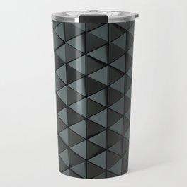 Pattern of black triangle prisms Travel Mug