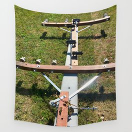 Power Pole On The Ground Wall Tapestry