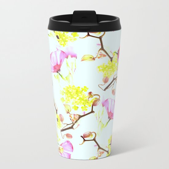 Spring flowers (floral) Metal Travel Mug