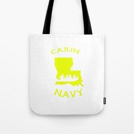 Cajun Navy Shirt Tote Bag