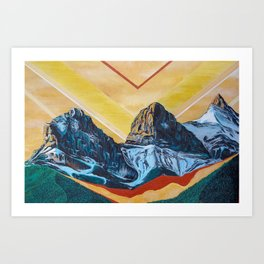 Three Sister Mountains Art Print