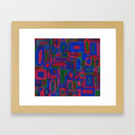 tempera work with jewel tones Framed Art Print