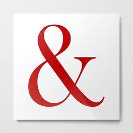 &- Ampersand Pillow Metal Print