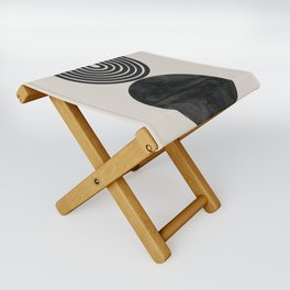 Woodblock Print, Modern Art Folding Stool