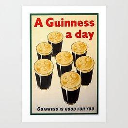 Vintage Guinness Advert Art Art Print