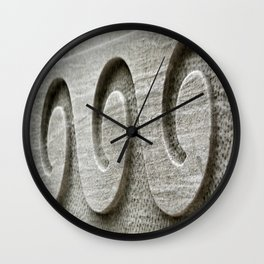 Chiseled Waves Wall Clock