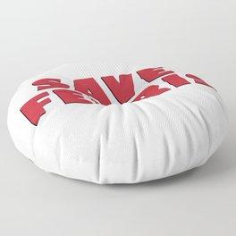 Save Ferris, 80s Movie Style Logo, Original Floor Pillow