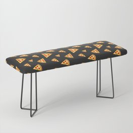 Cool and fun pizza slices pattern Bench