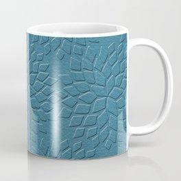 Leather Look Petal Pattern - Niagara Color Coffee Mug