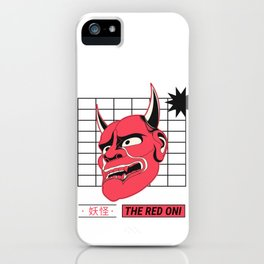 The Red Oni Yokai iPhone Case