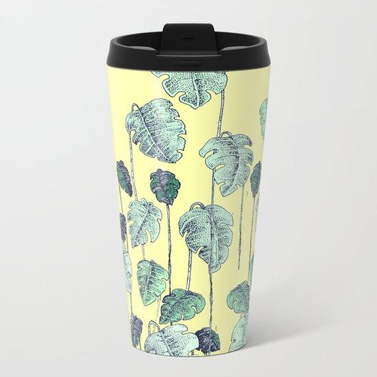 palm leaves pen Metal Travel Mug