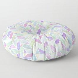 Chevron Lavender Lime Floor Pillow