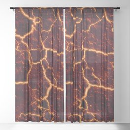 Lava Rocks Sheer Curtain
