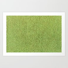 Phlegm Green Shag Pile Carpet Art Print