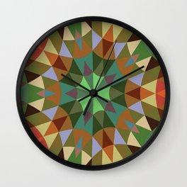 Earthy Retro Geometry Wall Clock