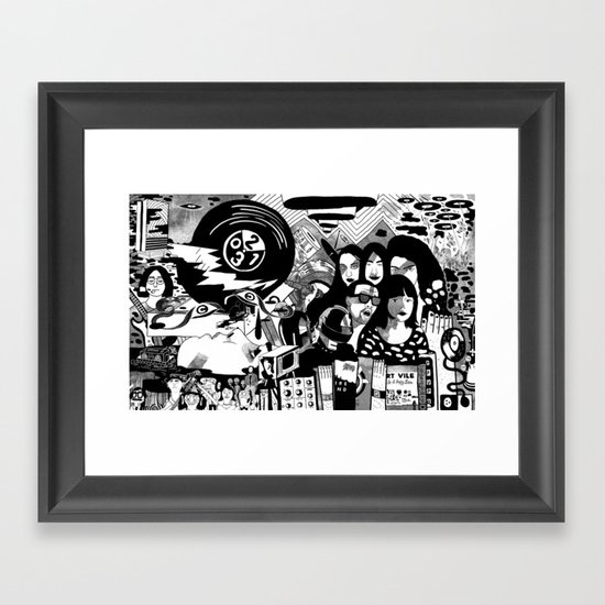 Sound & Vision: 2013 in Music by Steven Fiche Framed Art Print