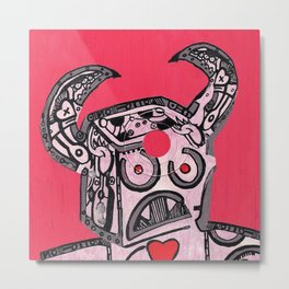 Barry Hole in The Head Metal Print