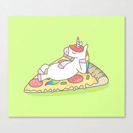 Unicorn Pizza Canvas Print