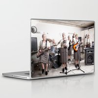 band Laptop & iPad Skins featuring Rock Band by Orbon Alija
