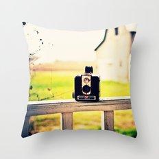 Brownie Kodak Camera Throw Pillow