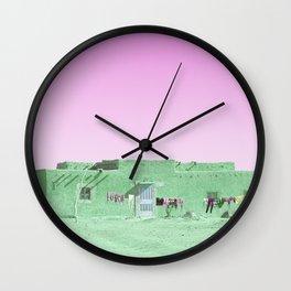 Moroccan Dar in Green Wall Clock