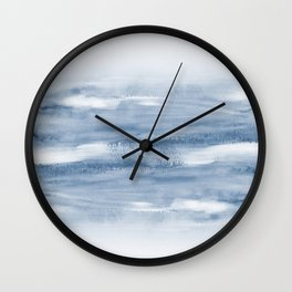 Watercolour Abstract Clouds Wall Clock