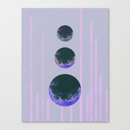 Triplet Lilac Canvas Print