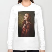 medieval Long Sleeve T-shirts featuring Medieval Woman by Ayu Marques