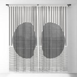 Abstract Modern  Sheer Curtain