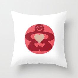 Circle Love Throw Pillow