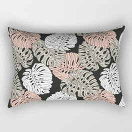 Monstera in the darkness of the jungle Rectangular Pillow