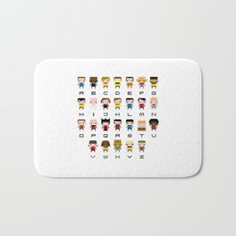 Pixel Star Trek Alphabet Bath Mat